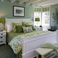 Green & White Bedroom