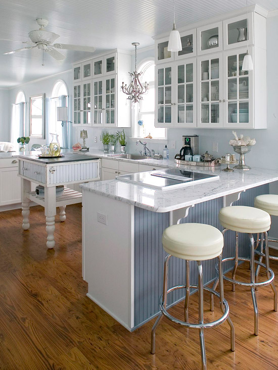 17 cottage kitchen design ideas the home touches for Beach house kitchen plans