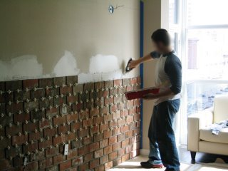 Lovely Thin 1 2 Inch Brick Veneer DIY Project The Home Touches