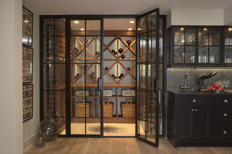 Do you love wine then display it right the home touches for In home wine cellar