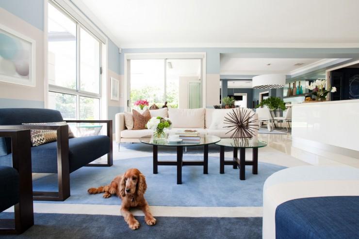 Contemporary living room 740x493