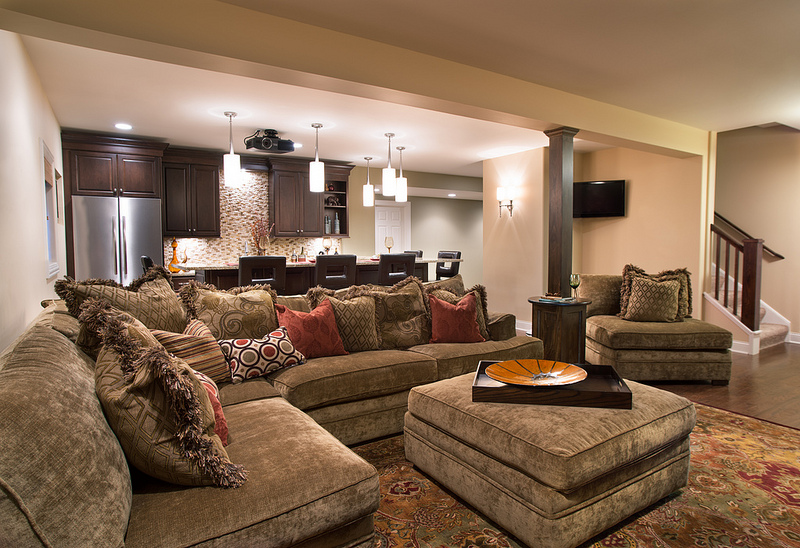Cozy Home Theater The Touches
