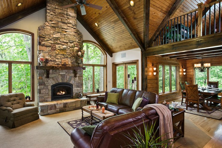 Awesome Log Homes 20 Photos The Home Touches