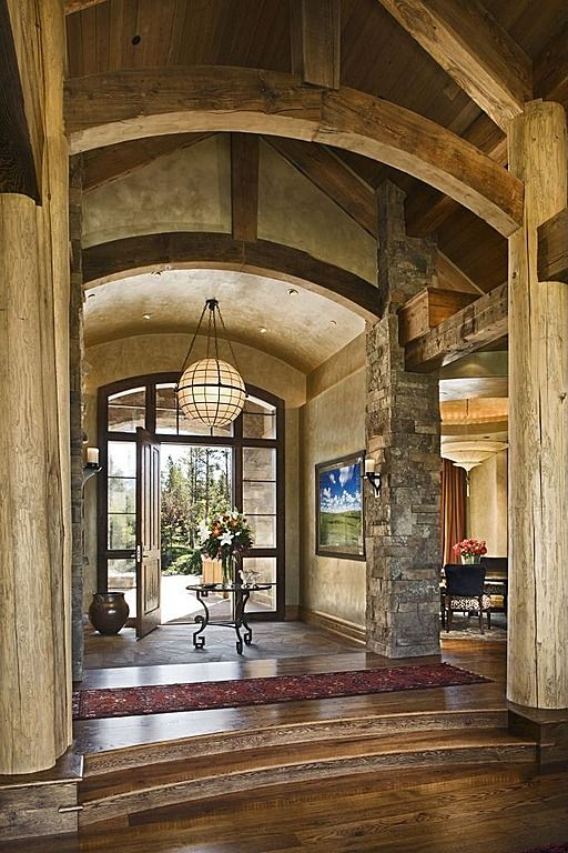 Lodge Foyer Lighting : Luxury front entrance you had me at hello the home