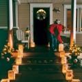 Outdoor Lighting Leading Up to The Front Door