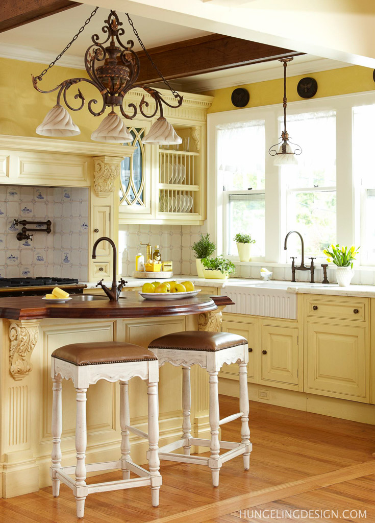 Luxury kitchen 1900 s kitchen got a renovation the home touches Kitchen design yellow and white