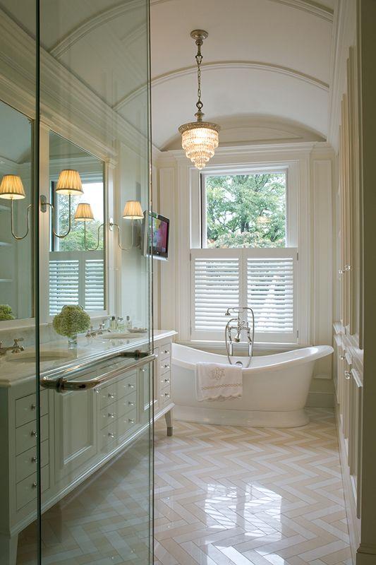 Spa like bathroom home tour 9 photos the home touches for Long master bathroom designs