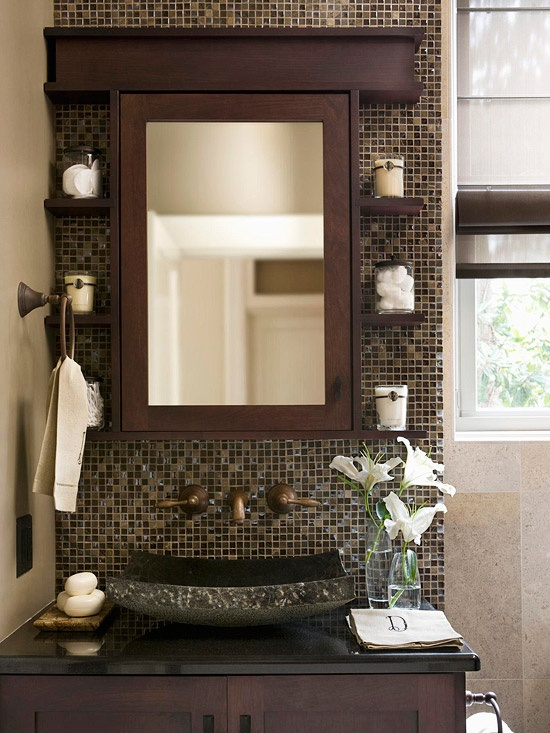6 small baths that live large 28 photos the home touches for Bathroom ideas half baths