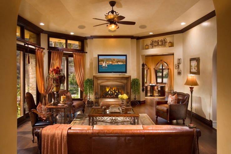 Pebble beach luxury home photo tour the home touches for Luxury fireplaces luxury homes