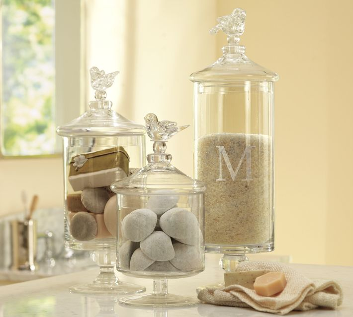 Pottery barn decor for your bathroom the home touches for Bathroom decor vases