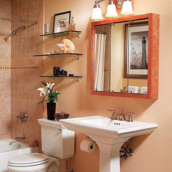 25 small bathroom space saving ideas the home touches for Small bathroom ideas 2014