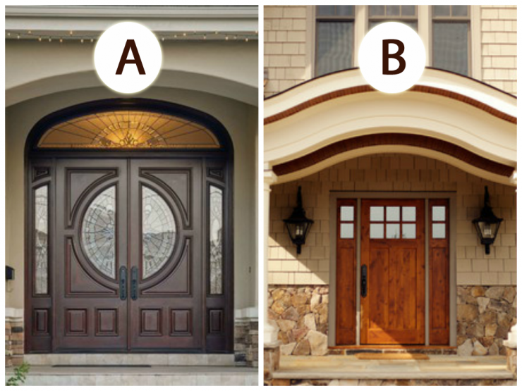 Which Front Door do you Like Better? A or B | The Home Touches