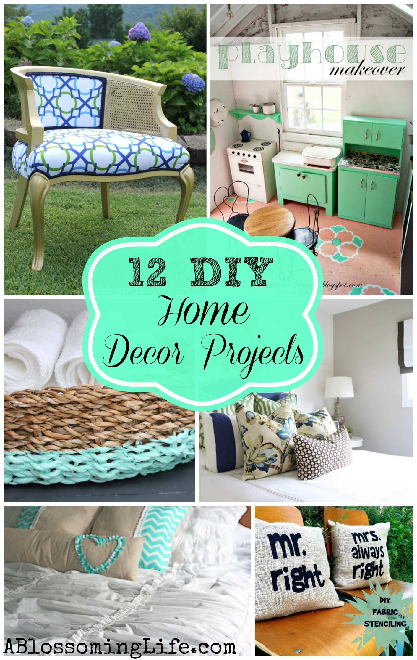 12 inspiring diy home decor projects the home touches for Simple home improvement ideas