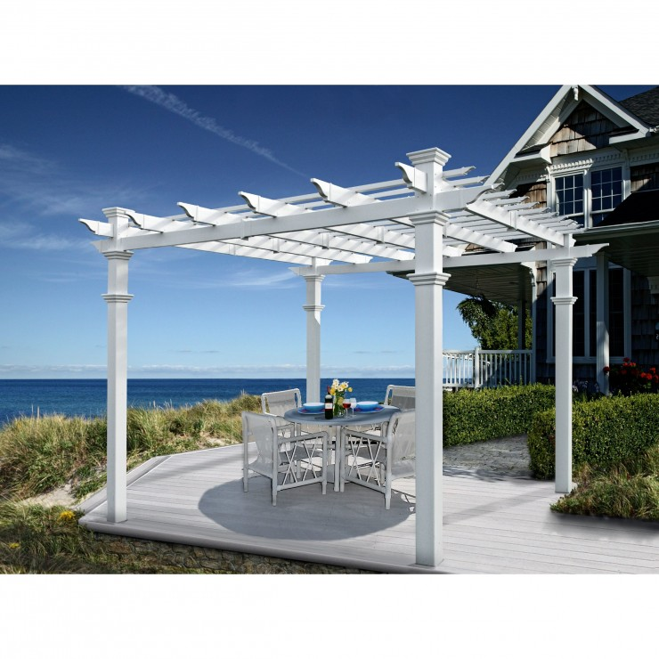 14 pergolas you can buy at costco the home touches. Black Bedroom Furniture Sets. Home Design Ideas