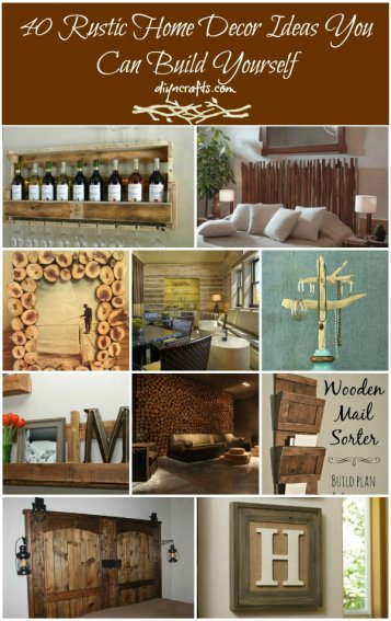 40 rustic home decor ideas you can build yourself the home touches solutioingenieria Images