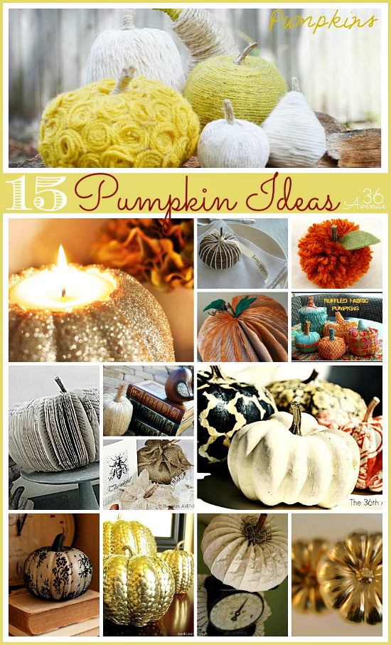 15 fall decor and diy pumpkin ideas the home touches for Homemade fall decorations for home