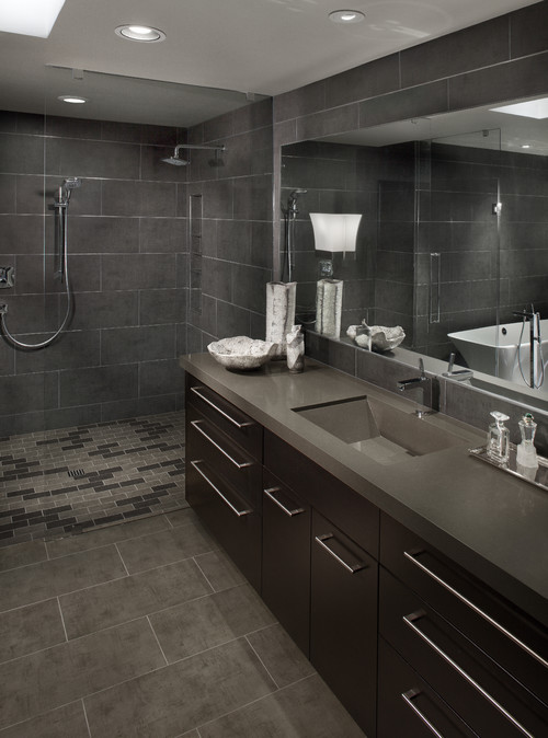 grey bathroom design