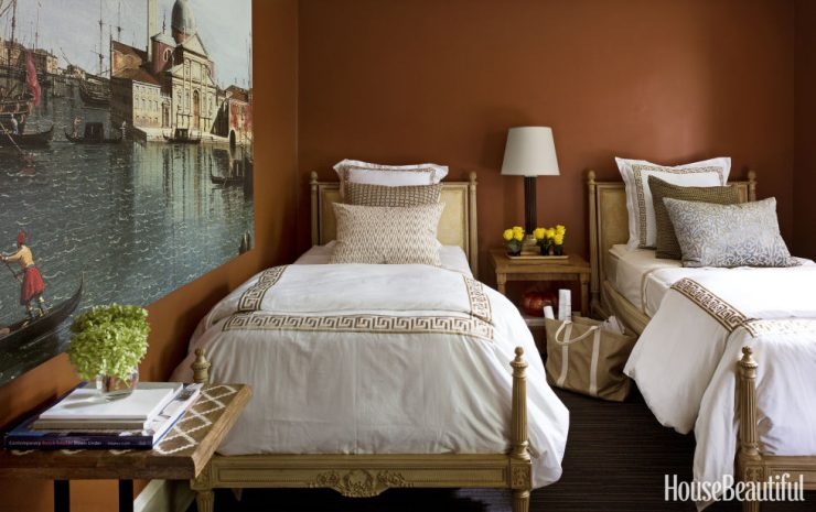 Bedroom in Fall Colors