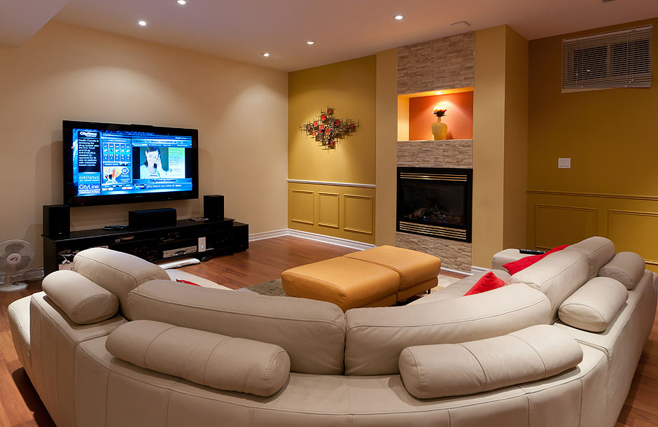 attic bedroom decorating tips - Finished Basement Family Room